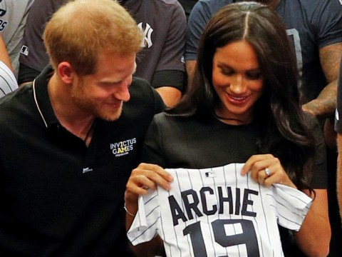 Meghan Markle pays surprise visit to UK's first Major League Baseball match