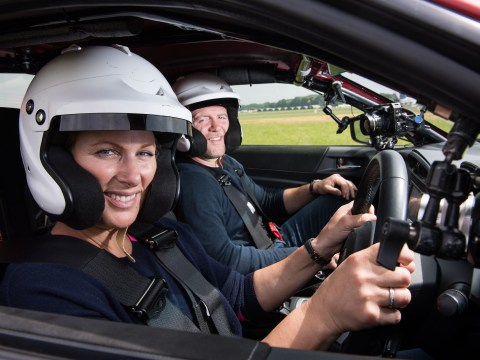 Top Gear's first royal guest Zara Tindall sends car flying in upcoming scenes
