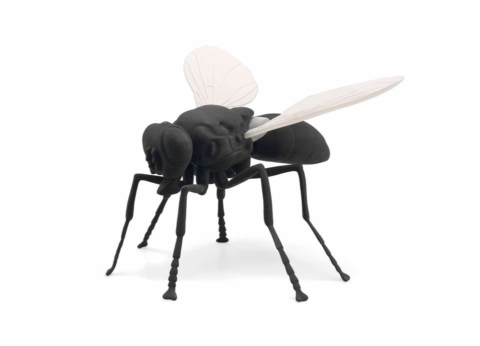 A toddler has knocked over a ?50,000 insect sculpture during Art Basel. Pictured: Katharina Fritsch?s ?Fliege? (Fly) sculpture