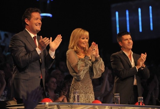 Editorial use only. No book publishing. Mandatory Credit: Photo by Ken McKay/REX (930909gm) The Judges, Piers Morgan, Amanda Holden, Simon Cowell. 'Britain's Got Talent' TV Programme - 24 May 2009