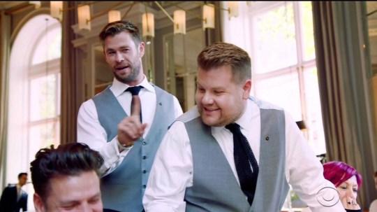 Avengers Chris Hemsworth And James Corden Battle It Out As