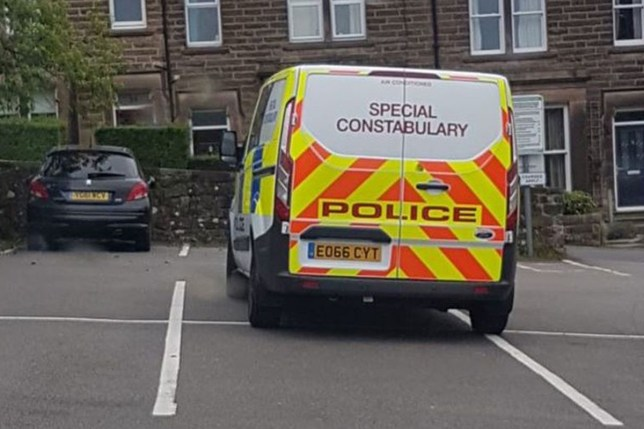 """A man caught out police by snapping a picture of a van which was parked over four spaces in Matlock, Derbyshire. Richard Shawcross posted a photo on social media of a special constabulary van parked at the Derbyshire County Council building. He posted that the vehicle was """"essentially blocking four spaces"""", Derbyshire Times reports."""
