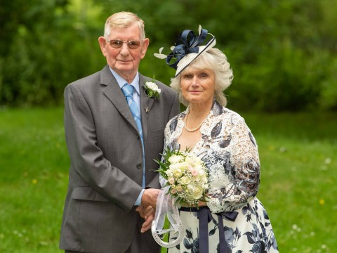 Britain's oldest newlyweds said 'I do' 50 years after they first met