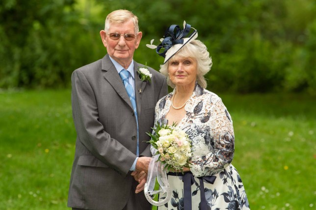 Roy Button, 93, and his 87-year-old bride Dorothy Moreton made a piece of history when they tied the knot at Nuneaton Register Office and became Britiain's oldest newlyweds