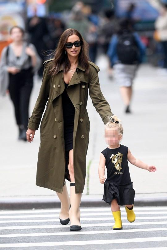 323ca1561 Irina Shayk embraces mummy duties with daughter Lea Seine after ...