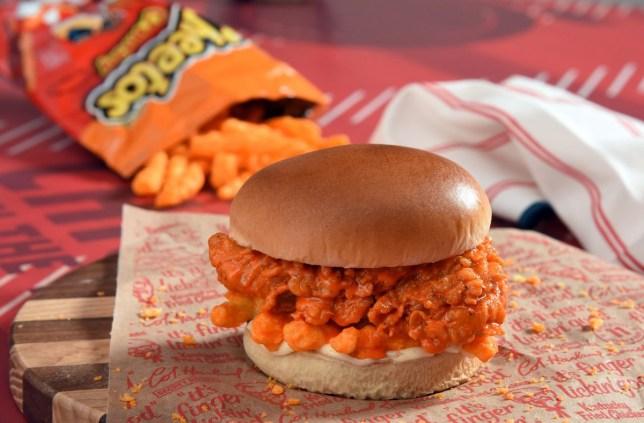 The KFC Cheetos burger