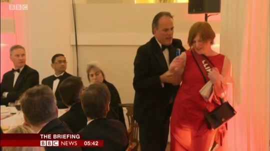 Mark Field grabbing Greenpeace protester