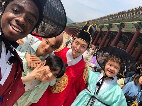 Stranger Things kids hang out with EXO in South Korea ahead of season 3