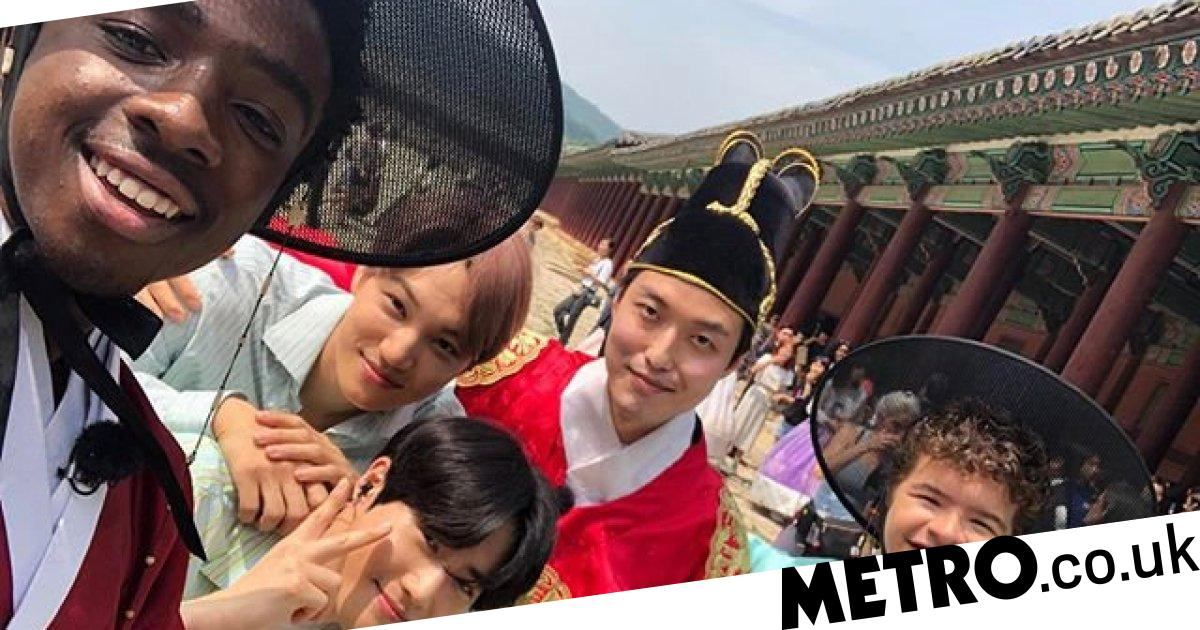 Stranger Things kids hang out with EXO in South Korea ahead