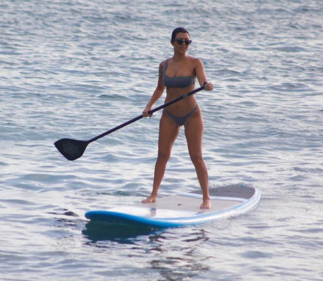 Kim Kardashian Kourtney Kardashian Scott Disick North West holiday