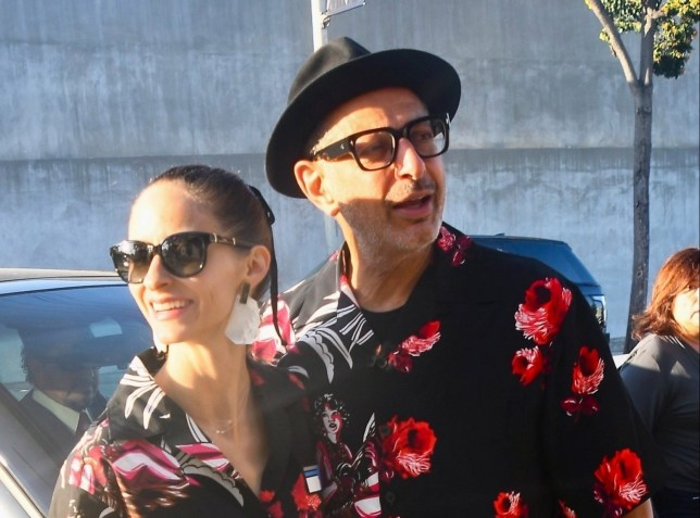 Jeff Goldblum and Emilie Livingston are goals as they couple's dress for date night