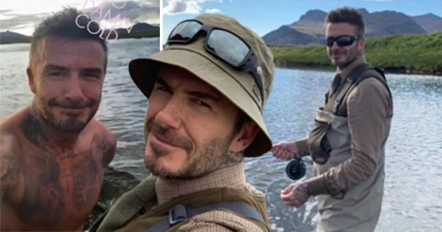 David Beckham fishing