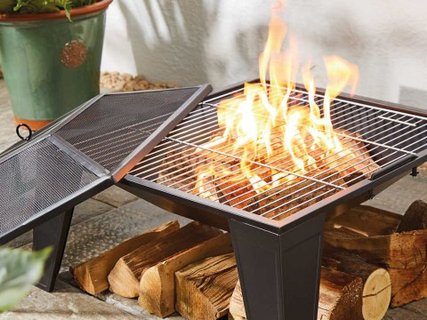 Aldi is selling a two-in-one BBQ fire pit for just £25
