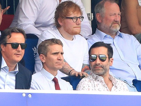 Ed Sheeran can get away with wearing a t-shirt in royal company as he hams it up with Prince Edward