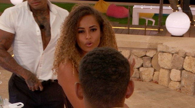 Amber Gill confronts Danny Williams on Love Island
