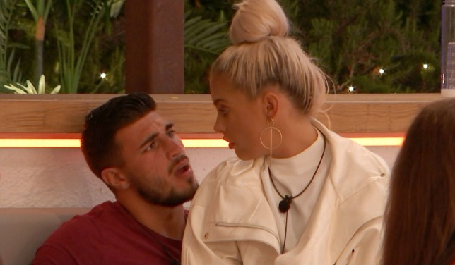 Editorial Use Only. No Merchandising. No Commercial Use Mandatory Credit: Photo by ITV/REX (10321126ad) Molly-Mae Hague questions Tommy Fury 'Love Island' TV Show, Series 5, Episode 20, Majorca, Spain - 25 Jun 2019 - Villa divides over Yewande exit - First kiss for Arabella and Danny - Maura and Tom lock lips - but is he all that into her? - Molly-Mae's lips are sealed - but are Tommy's? - Is Lucie ready for another romance?