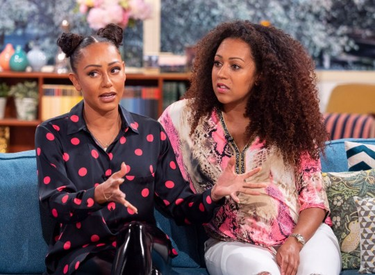 mel b and her sister danielle brown