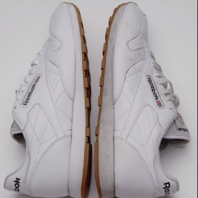 reebok trainer cleaning
