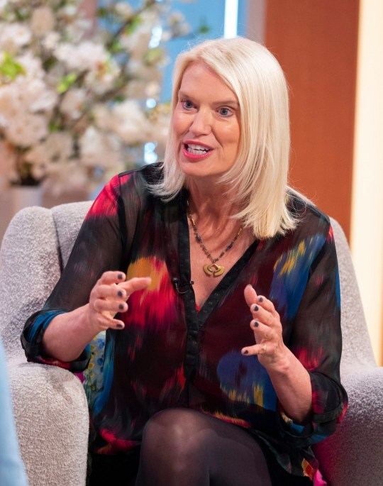 Editorial use only Mandatory Credit: Photo by Ken McKay/ITV/REX (10322595x) Anneka Rice 'Lorraine' TV show, London, UK - 27 Jun 2019