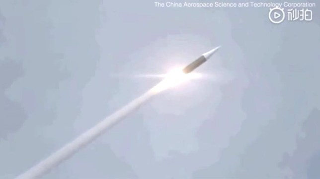 China tests unstoppable hypersonic nuclear missile. Provider: China Aerospace Science and Technology Corporation