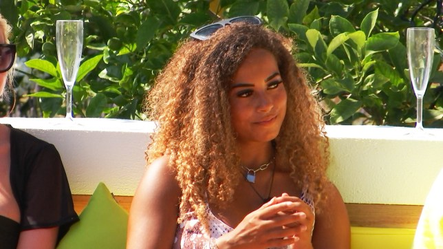 Amber Gill in Love Island