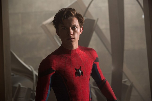 Tom Holland stars as Spider-Man/Peter Parker in Columbia Pictures' SPIDER-MAN???: HOMECOMING.