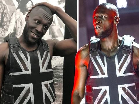 Stormzy left 'speechless' as he confirms Banksy designed Glastonbury Festival Union Jack stab vest