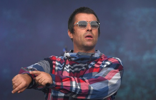 epa07683470 British singer Liam Gallagher performs on the Pyramid Stage on day four of the Glastonbury Festival of Contemporary Performing Arts in Pilton, Somerset, Britain 29 June 2019. The festival runs from 26 to 30 June. EPA/NEIL HALL