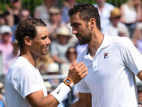 Marin Cilic rates Rafael Nadal as Wimbledon favourite despite exhibition defeat