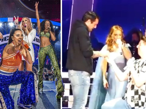 Mel B gives hilarious advice after couple get engaged at Spice Girls show in onstage proposal