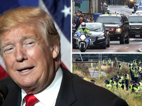 Donald Trump guarded by 'unprecedented' £25,000,000 security operation for UK state visit