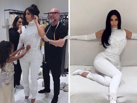 North West, 5, helps expertly style mum Kim Kardashian ahead of her wedding anniversary