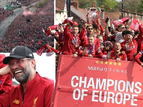 Liverpool salutes Champions League heroes as half a million hit the streets