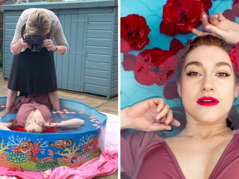 This clever photography hack makes it look like you have a swimming pool