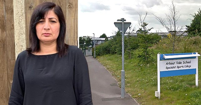 Picture of Arbour Vale School teacher Memtaz Khan next to a site pic of Arbour Vale School