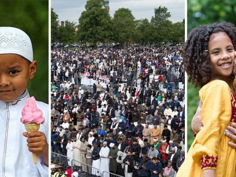 Over 100,000 Muslims celebrate end of Ramadan in Birmingham park