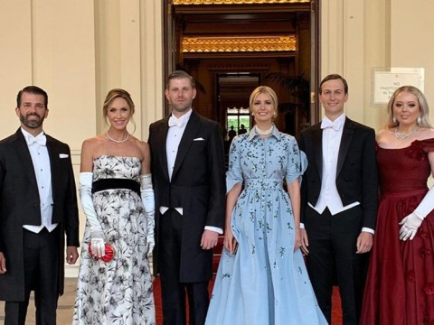 """Trump children 'pose for photograph in front of """"No photographs"""" sign'"""