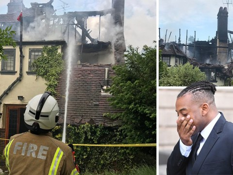 JLS star Oritsé Williams's £3million mansion goes up in flames days after he's cleared of rape