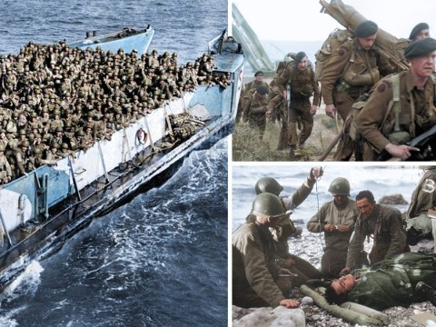 D-Day in colour: Dramatic pictures altered make horrors of war even more bleak