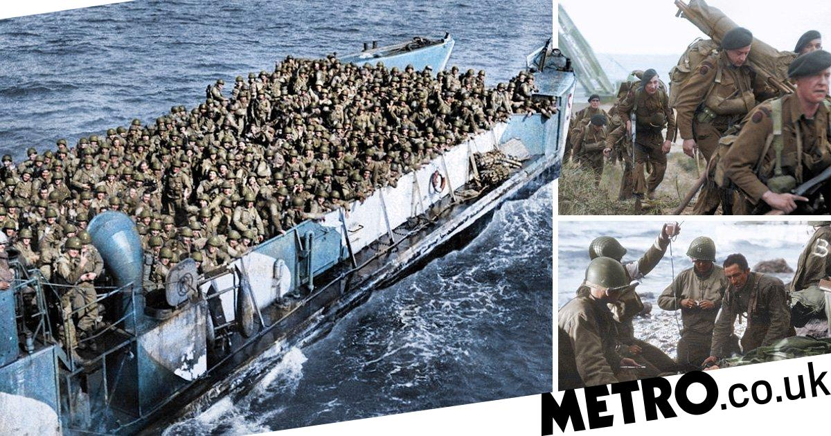 D-Day in colour: Dramatic pictures altered make horrors of