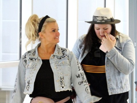 Kerry Katona and daughter Molly, 17, jet to Greece for fitness boot camp
