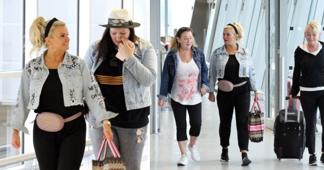 Kerry Katona and her daughter Molly fly to Greece