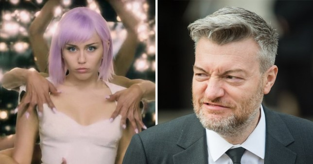 Charlie Brooker and Miley Cyrus