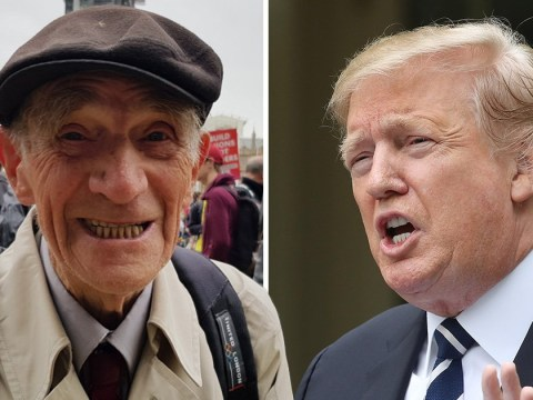 This elderly protester is taking on Donald Trump at 88