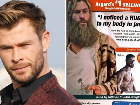 Chris Hemsworth mocks Thor's weight gain with 'fat' advert after divisive Avengers: Endgame fate