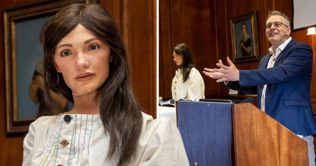 Humanoid robotic artist makes its debut at Oxford University