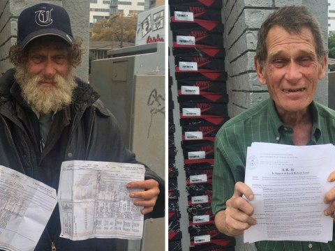 Homeless man goes back to uni to finish the degree he started decades ago