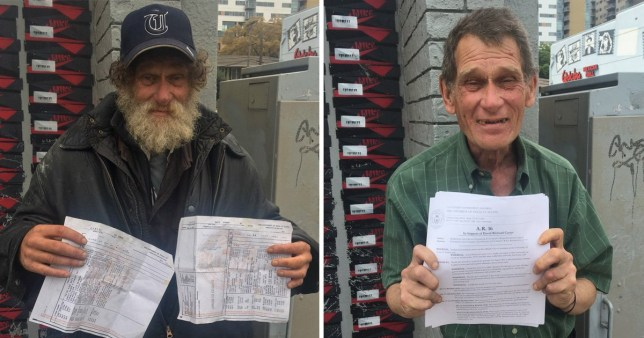 Homeless man goes back to university