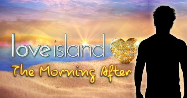 the love island podcast logo and silhouette of host kem cetinay