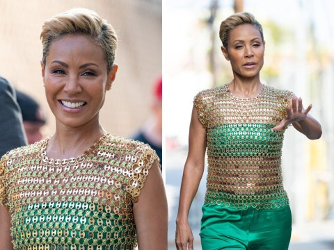 Jada Pinkett Smith aces risky chain mail outfit and admits feeling 'uncomfortable' following porn addiction reveal